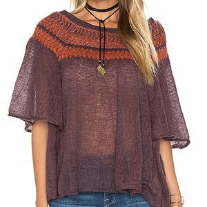 Free People Mohair Cropped Swing Sweater